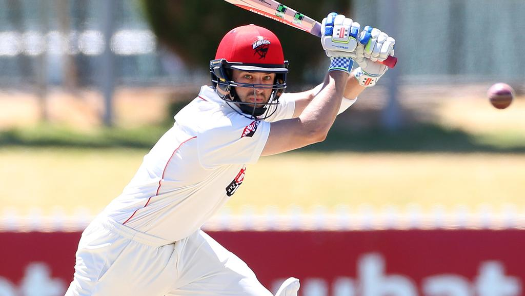 Callum Ferguson plays a shot against Western Australia, at Glenelg Oval.