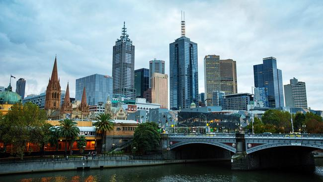 Melbourne's city apartment scene could be at the centre of falling median prices in the near future. Picture: Mark Stewart
