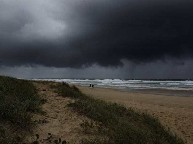 Surfers Paradise braces for Cyclone Marcia's arrival. Picture: Kit Wise