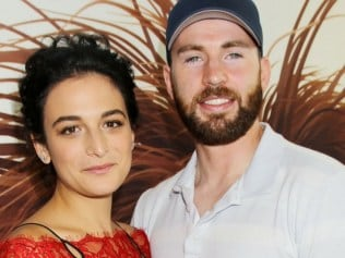 Jenny Slate and Chris Evans in happier times at the premiere of The Secret Lives Of Pets. Photo: REX/Splash