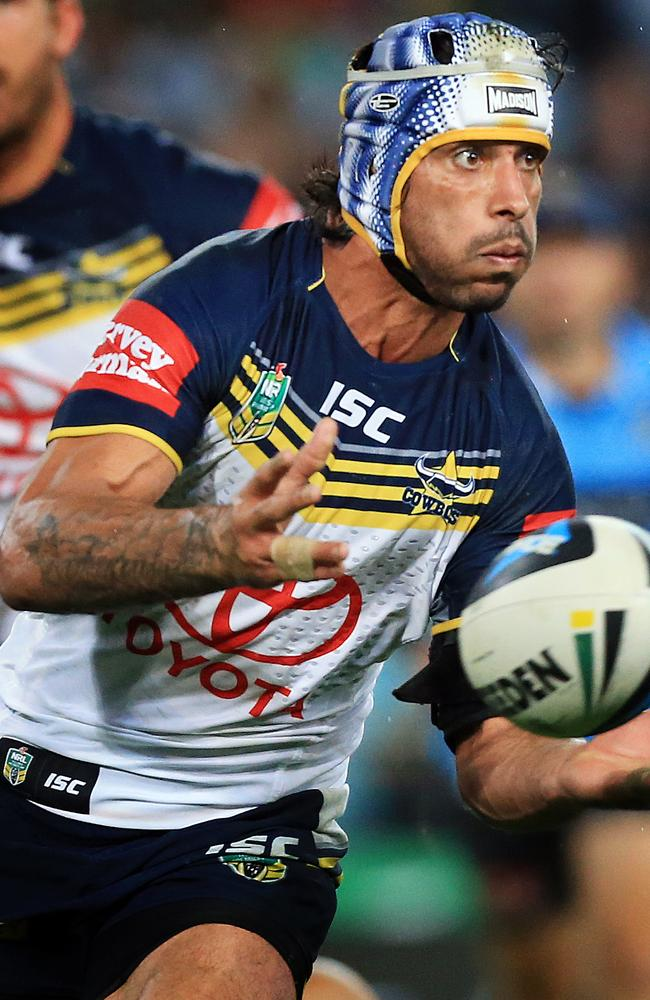 Johnathan Thurston has been back to his best since he switched back to halfback. Pic: Mark Evans