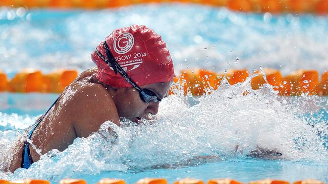 Mariam Muhammad Ali Foum finished well behind the pacesetters in the 50m breaststroke.