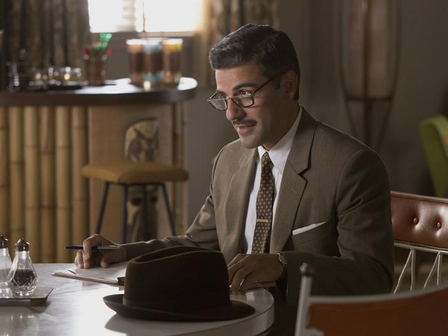 Oscar Isaac in a scene from Suburbicon. Picture: Hilary Bronwyn Gayle/Paramount Pictures via AP