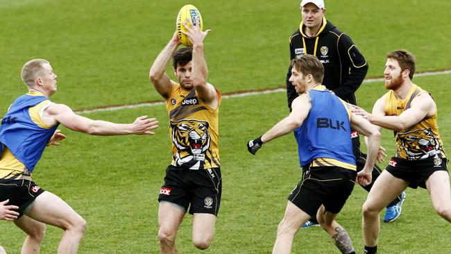 Richmond prepares for its season-defining game against Adelaide on Saturday night. Picture: Paul Loughnan