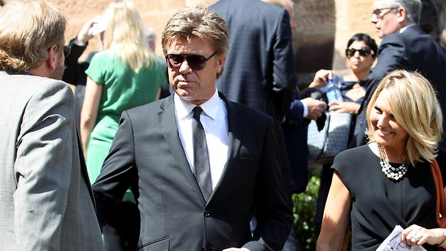 Richard Wilkins and Georgie Gardner paid their respects. Picture: John Grainger