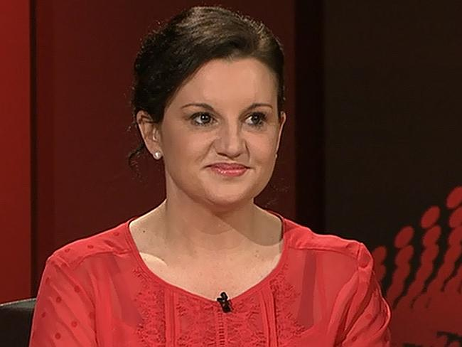 Senator-elect Lambie made her debut appearance on the ABC program last night. Picture: Courtesy ABC/Q&A