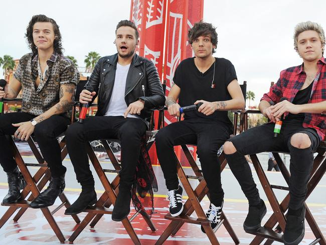 Harry Styles, Liam Payne, Louis Tomlinson and Niall Horan of One Direction appear without Zayn Malik on November 17, 2014 in Orlando, Florida.