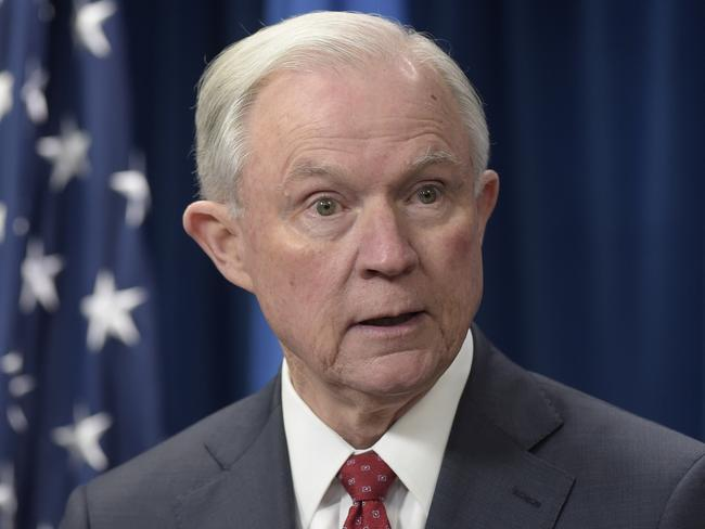 US Attorney General Jeff Sessions will appear before the US Senate Intelligence committee this week. Picture: Susan Walsh/AP
