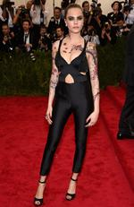 """Cara Delevingne attends the Met Gala 2015 """"China: Through The Looking Glass"""". Picture: Getty"""