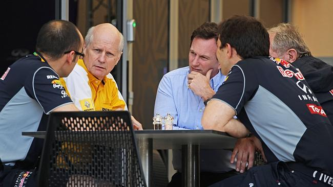 Red Bull bosses have a powwow with the boss of engine supplier Renault.