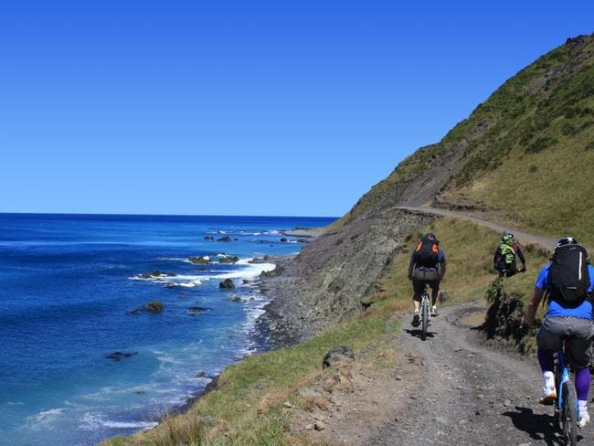 The spectacular NZ coastline is now accessible by bike. Picture: Lonely Planet.