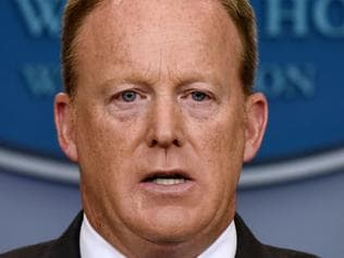 White House Press Secretary Sean Spicer gives the daily briefing - DC