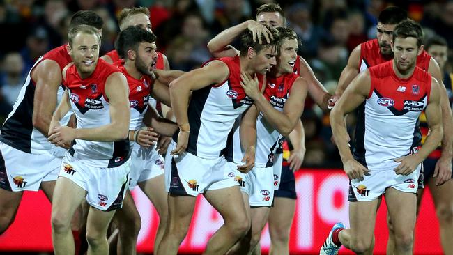 Tyson and the Dees have been gathering great momentum since their win over Adelaide. Picture: Simon Cross
