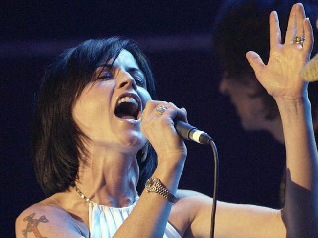 Dolores O'Riordan died at age 46 and has been laid in repose in Limerick, Ireland. Picture: AP