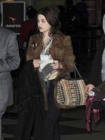 All grown up: Kurt Cobain's daughter Frances Bean Cobain at LAX. Picture: Splash News
