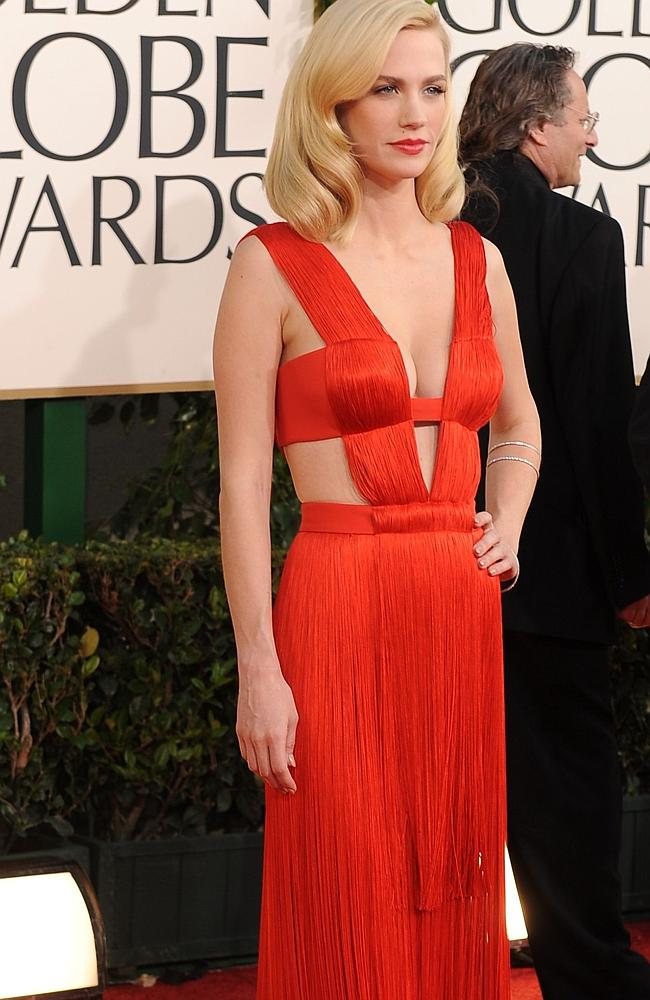 Red hot - Actress January Jones is left-handed.