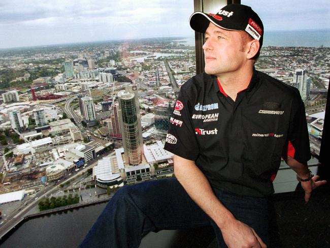 Max's father, former F1 driver Jos Verstappen, at the 2003 Australian Grand Prix.