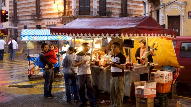 A food stall in Zocalo at night. Picture: Lonely Planet