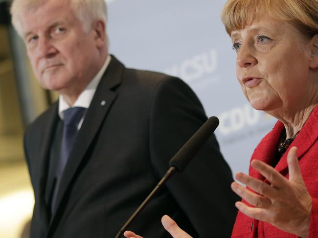 Horst Seehofer ... Bavaria is threatening Chancellor Angela Merkel's government with a court suit if it doesn't take measures to secure the German border and reduce the migrant influx. Picture: AP