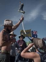 Thousands of Utes from across Australia have descended upon the small New South Wales country town of Deniliquin for the annual Ute Muster, on Saturday, September 20, 2017. The Deniliquin Ute Muster celebrates all things Australian and the icon of the Ute. (AAP Image/Perry Duffin)