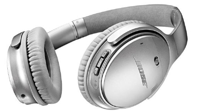 The Bose QuietComfort 35 headphones have received great reviews and retail in Australia for about $400.Source:Supplied