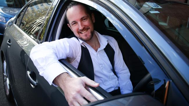 Uber Driver and ex-RAAF airman Clint, who has been with the company for some time.