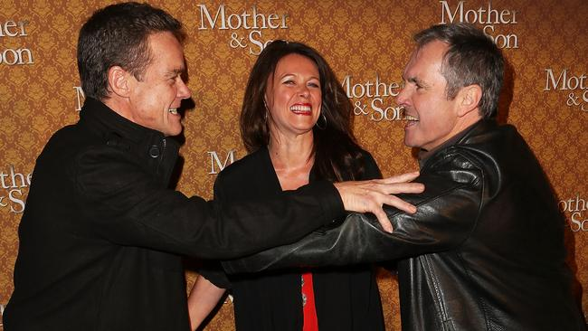 <i>Mother & Son</i> (L-R) Stefan Dennis, Gail Easdale and Alan Fletcher arrive at the opening night of  <i>Mother & Son</i>