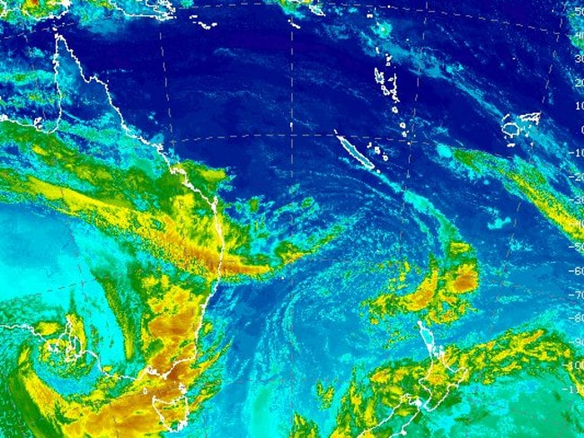 The once in 50-year storm will move east in the next 24 hours. Picture: Bureau of Meteorology