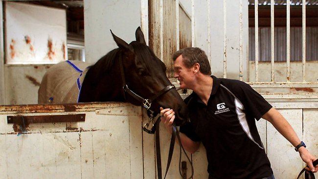 Trainer David Vandyke with Lamasery. Picture: Mark Evans
