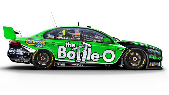 Mark Winterbottom's No. 1 The Bottle-O Ford Falcon
