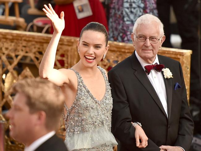 Daisy Ridley at the 88th Annual Academy Awards at Hollywood & Highland Centre on February 28, 2016 in Hollywood, California. Picture: Mike Windle / Getty Images