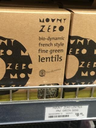 Lentils are $9.