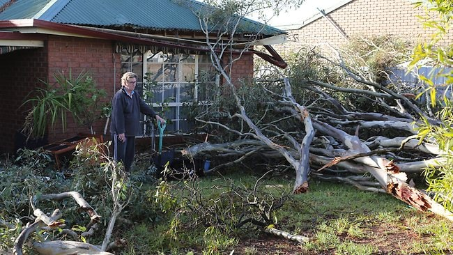 A home destroyed in Rutherglen. Picture: Simon Dallinger