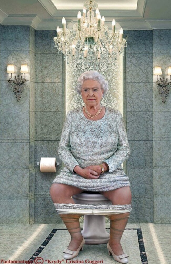 The Queen is pictured in a beautifully regal setting.
