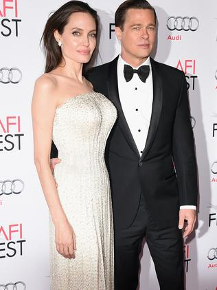 Dream team ... Jolie and husband Brad Pitt were at the film's premiere today.