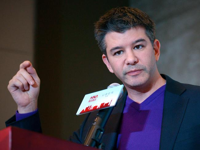 A review in Uber has recommended curtailing CEO Travis Kalanick's responsibilities. Picture: AFP/Wang Zhao