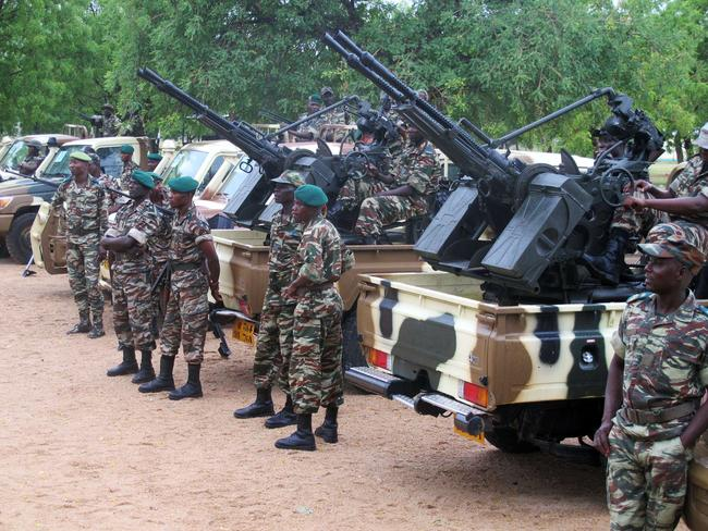 Time to act ... Cameroonian soldiers over the border from Nigeria in Mora, northern Cameroon, mobilised to face armed Islamist group Boko Haram.