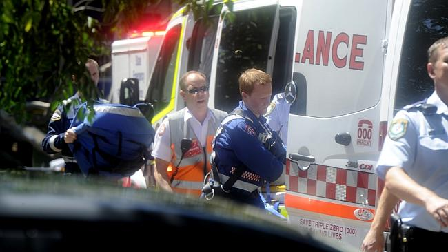 Ambulance styaff worked hard in a desperate attwempt to save the girl's life.