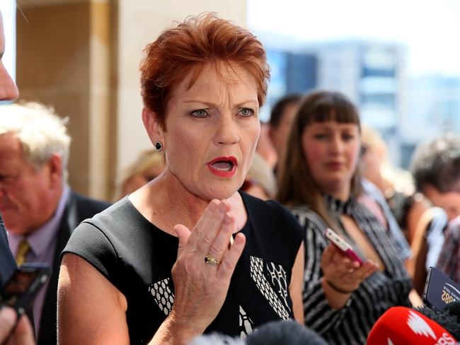 One Nation leader Pauline Hanson is a Trump supporter. Picture: Colin Murty/The Australian