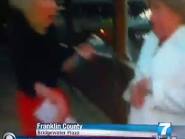 Terrifying ... The moments after the shooting began were also caught on camera. Picture: WDBJ7