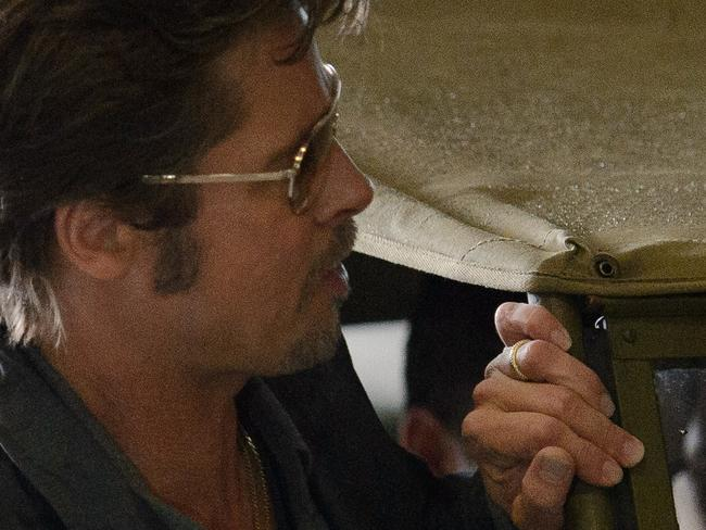 Brad Pitt spotted wearing his wedding band in Dorset, England, on August 28.