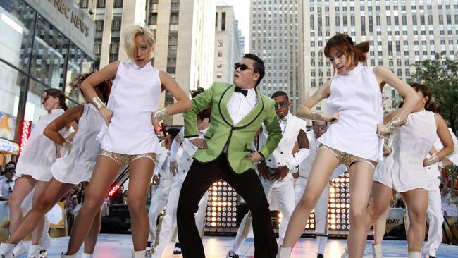 Psy performs Gangnam Style in New York. Picture:AP