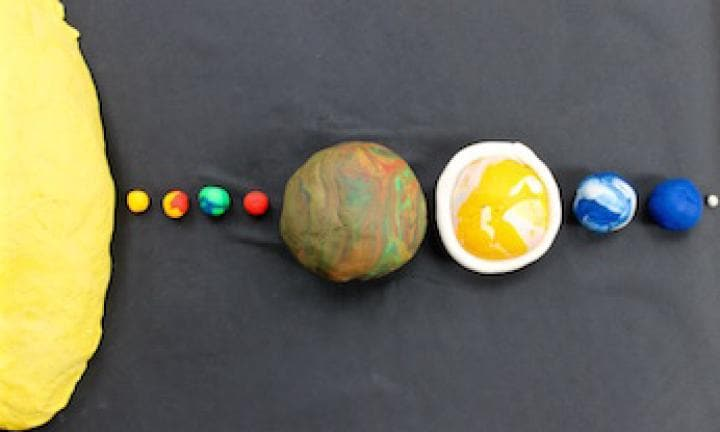 Play dough solar system
