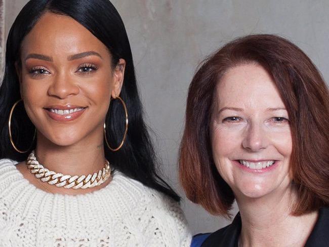 Gillard and Rihanna join forces