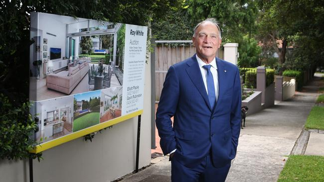 ... AND NOW: Brian White, chairman of Ray White at a property in Sydney's Bellevue Hill. Picture: John Feder