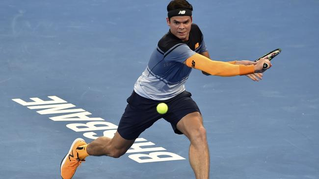 Milos Raonic came from a set down to defeat qualifier Ivan Dodig of Croatia. Picture: AFP / Saeed Khan