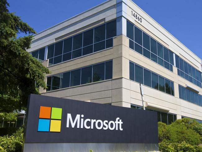 Microsoft has recently announced it will cut up to 18,000 jobs, the largest lay-off in the company's history. Pic: Stephen Brashear/Getty Images/AFP.