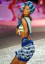 <p>A Victoria's Secret model presents a creation during the Victoria's Secret Fashion Show 2008 in Miami Beach, Florida.</p>