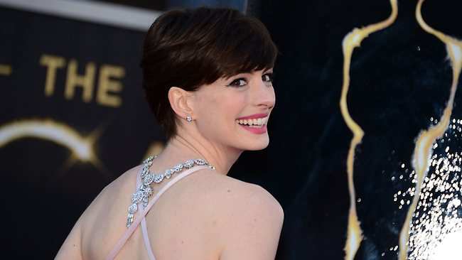 Best Supporting Actress nominee Anne Hathaway. Picture: AFP