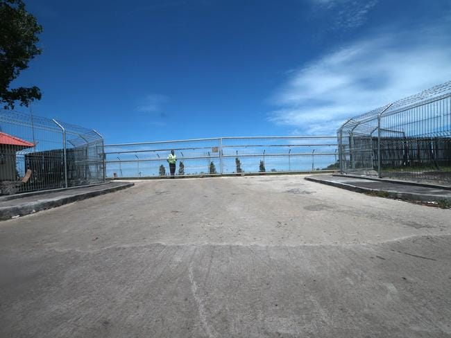 Plans in place ... The emergency gate most likely to be used at the airport when Bali Nine duo are moved to the execution island. Picture: Adam Taylor